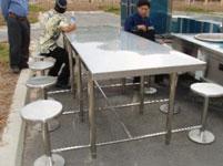Bàn ghế liên hoàn nhà ăn công nghiệp
