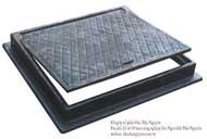 Khung và nắp ga chữ nhật có bản lề