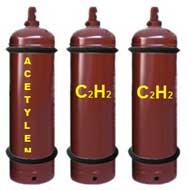 Khí ACETYLEN C2H2 cấp bằng chai 40L