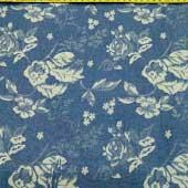 Vải jean in hoa