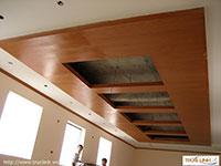 Vách gỗ trần ốp gỗ Veerner