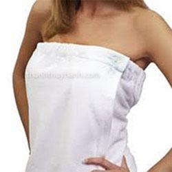 áo quấn spa trắng
