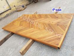 Mặt bàn gỗ tràm xương cá