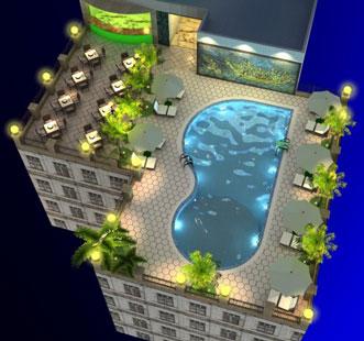 Hồ bơi khách sạn - Buôn Mê Thuột