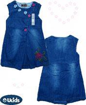 Váy jean 2 lớp hoa ngực ruby