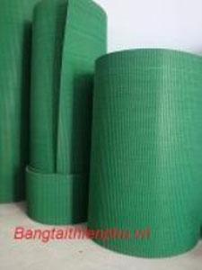Băng tải PVC nhám xanh gai