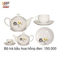 Bộ trà bầu hoa