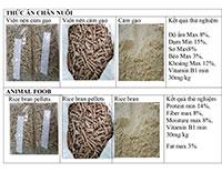 Mô tả viên nén cám gạo