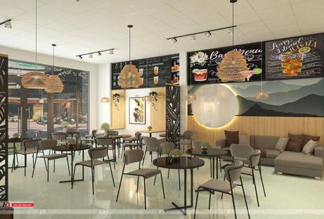 Thiết kế thi công nội thất quán cafe Ngọc Lặc