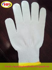 Găng tay sợi trắng