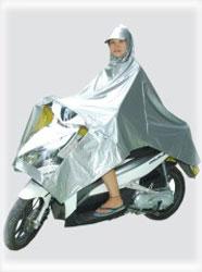 áo mưa 2 da (trong vàng ngoài bạc)