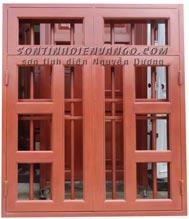 Sơn tĩnh điện cửa sổ vân gỗ