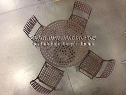 Sơn tĩnh điện bộ bàn ghế ăn châu Âu