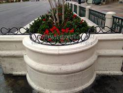 Sơn tĩnh điện viền chắn bồn hoa