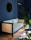 Sofa gỗ sồi mây