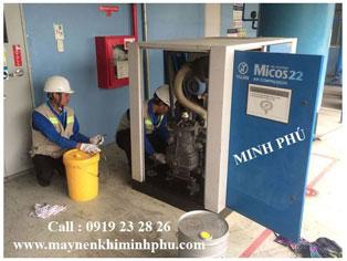 Bảo dưỡng máy nén khí Micos 22