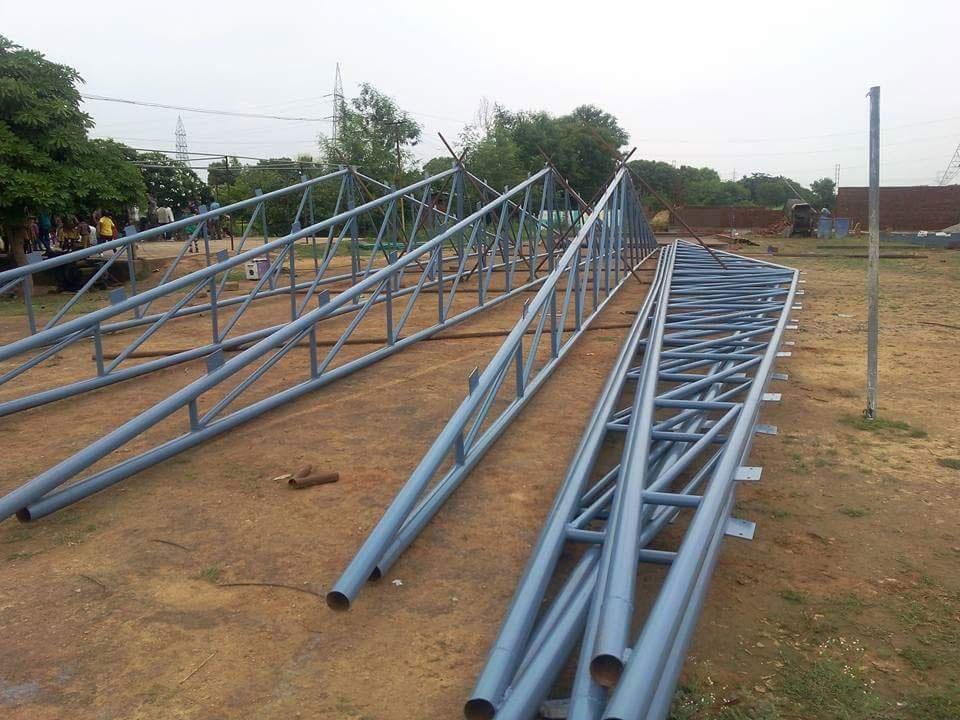 Lắp dựng kết cấu thép nhà xưởng