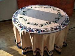 Vải khăn bàn