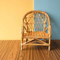 Small round brown rattan chair