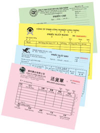 Phiếu thu phiếu chi phiếu xuất