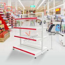 Kệ đơn siêu thị 120-150cm