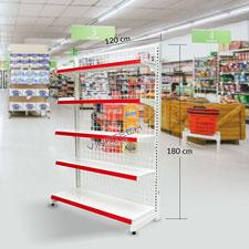 Kệ đơn siêu thị 120-180cm