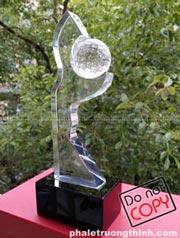 Cúp pha lê gắn quả cầu Tennis