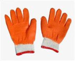 Găng tay chống nóng tráng nhựa cam