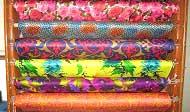 Vải lụa Satin in hoa
