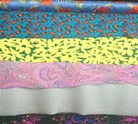 Vải lụa tơ tằm Crepe in