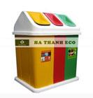 Thùng rác Composite 3 ngăn 3 màu