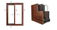 Cửa nhôm có cầu cách nhiệt ốp gỗ
