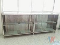 Tủ inox cửa kiếng