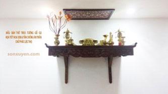 Bàn thờ treo tường Hoa Sen