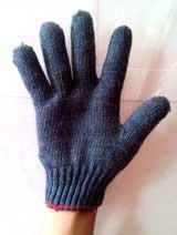 Găng tay len xám
