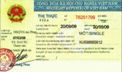 Thủ tục thị thực nhập cảnh Việt Nam