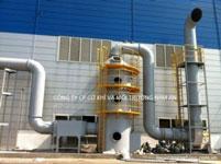 Hệ thống xử lý khí thải-Cty KPF