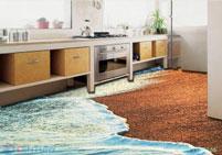Gạch 3D phòng bếp