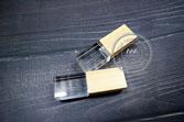 USB quà tặng pha lê nắp gỗ