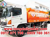 Xe tải Hino bồn chở xăng 11 khối