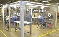 Rèm nhựa PVC chống tĩnh điện