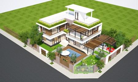 Thiết kế nhà phố biệt thự