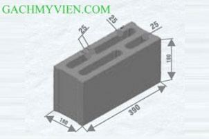 Gạch block 390 X 190 x 190
