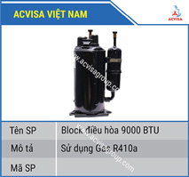 Block điều hòa 9000 BTU Gas R410a