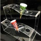 Kệ Mica trưng bày kem