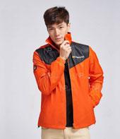 Đồng phục áo khoác màu cam phối đen