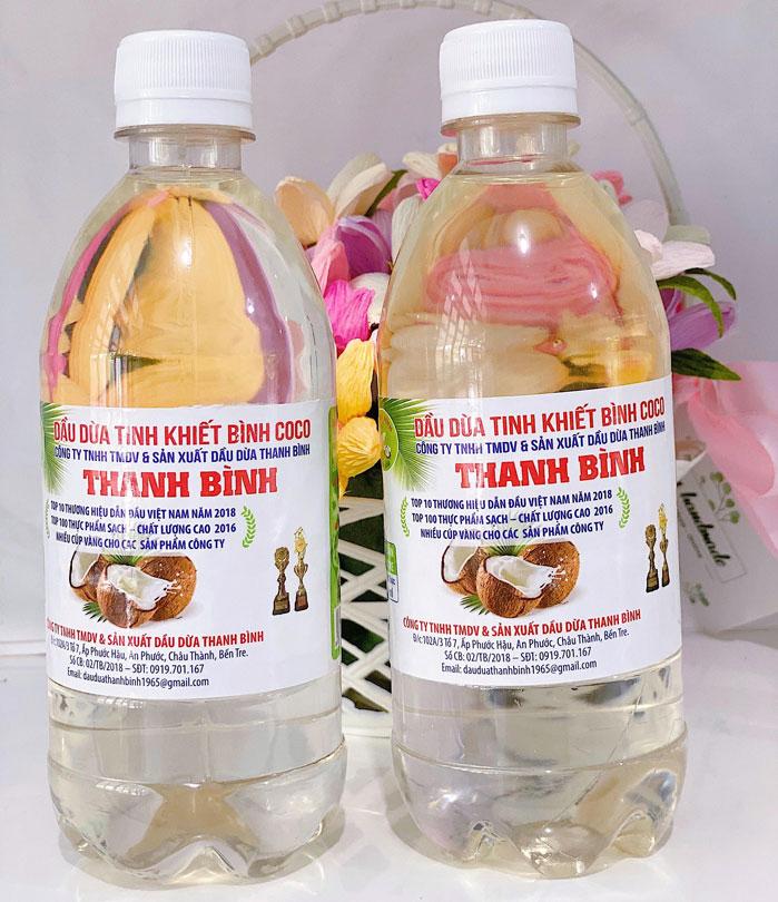 Dầu dừa tinh khiết 500 ml chai thường