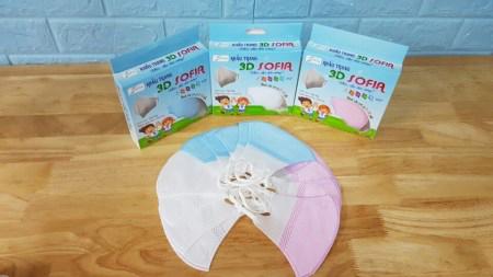 Khẩu trang 3D trẻ em từ 2 - 5 tuổi