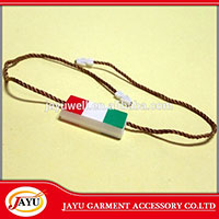 Screen printing plastic garment hang tag