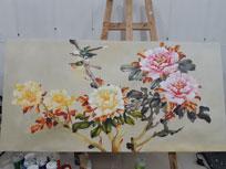 Vẽ tranh sơn dầu hoa